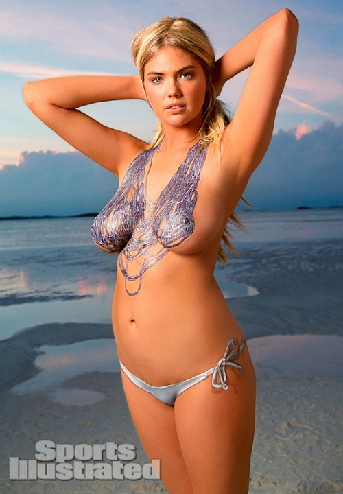 Kate Upton body paint bikini (8)