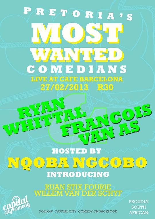 Pretoria's Most Wanted Comedians