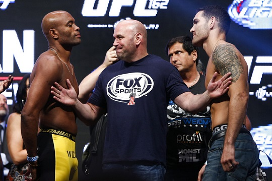 Anderson Silva and Chris Weidman
