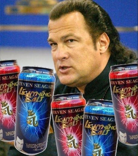 Steven Segal energy drink