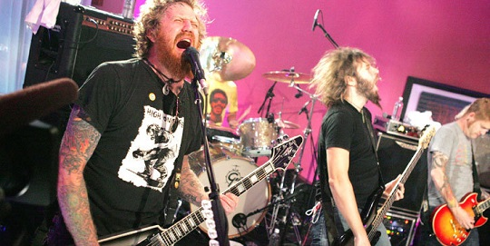 Mastodon on stage