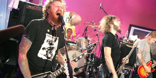 Mastodon on stage