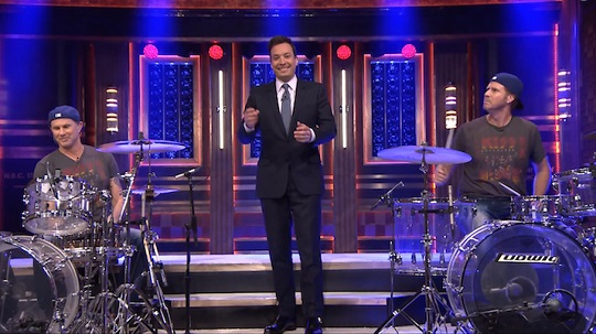 will ferrell chad smith drum off live the tonight show
