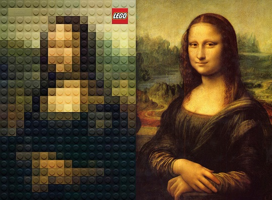 Lego paintings Mona Lisa