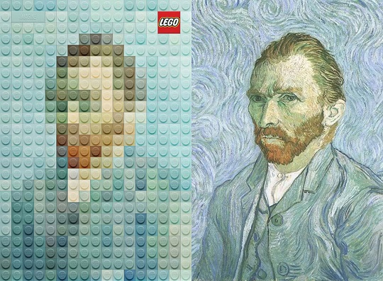 Lego paintings Van Gohg