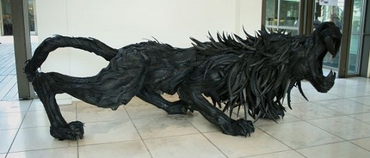 Yong Ho Ji tyre sculptures (2)
