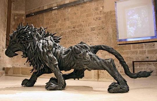Yong Ho Ji tyre sculptures (4)