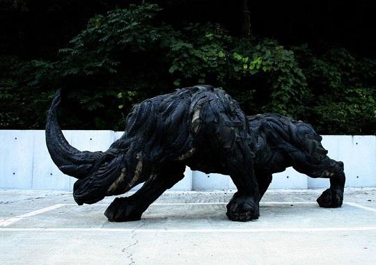 Yong Ho Ji tyre sculptures (6)