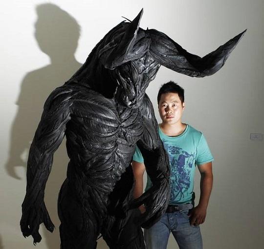 Yong Ho Ji tyre sculptures