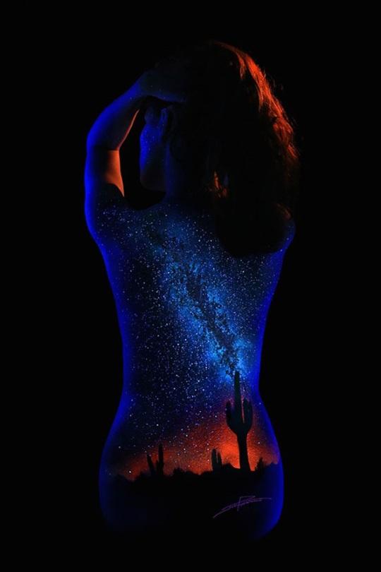 John Poppleton Black Light Bodyscapes