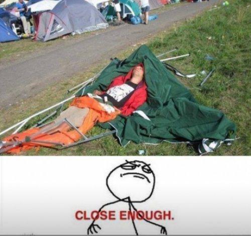 Tent fail