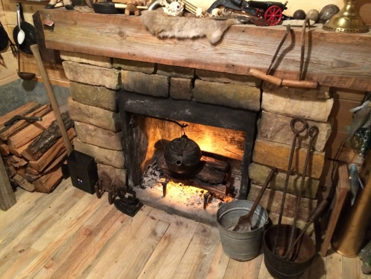 11 Fake Fire place in $107 man cave