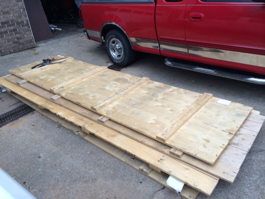 2 shipping crate wood used, that was free