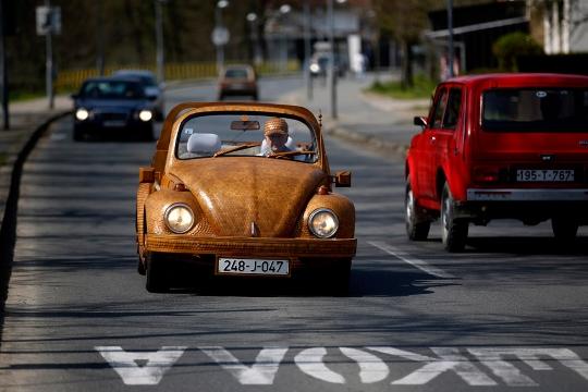 Hout Volkswagen Beetle (4)