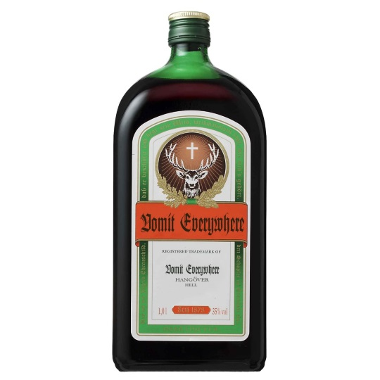 If alcohol labels told the truth Jagermeister