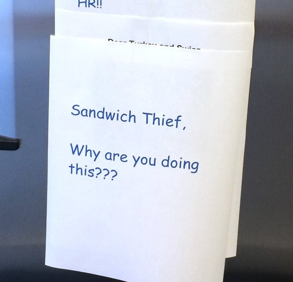 Office Drama sandwitch held for ransom 5