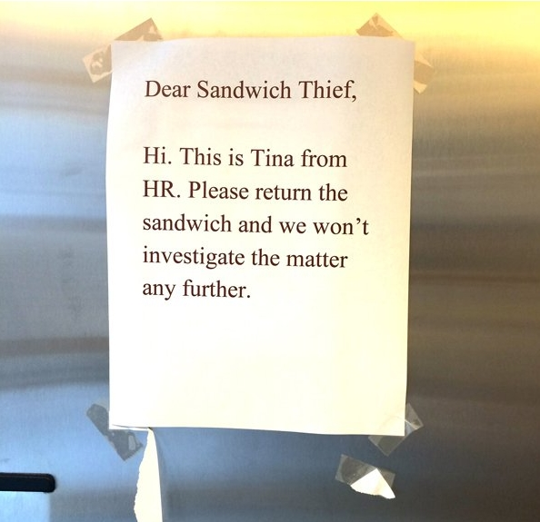 Office Drama sandwitch held for ransom 7