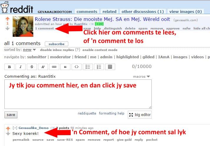 Commenting on Reddit