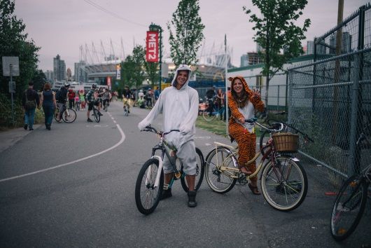 Illegal Bicycle Rave, Vancouver, Canada