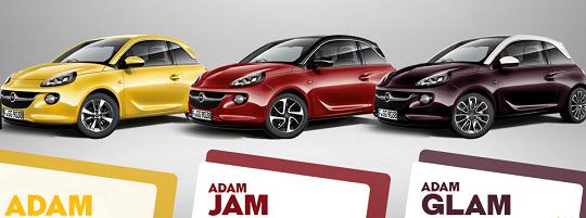 Opel Adam, Jam and Glam