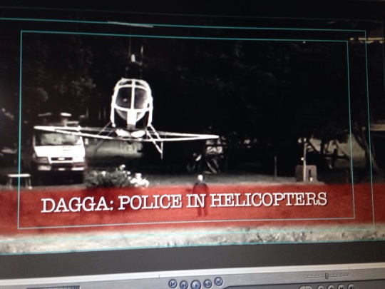 Dagga Police in Helicopters, Transkei, Eastern Cape