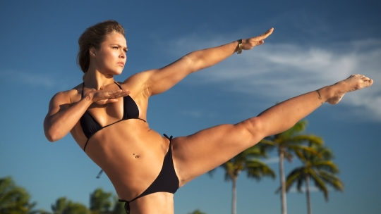 Ronday Rousey black bikini