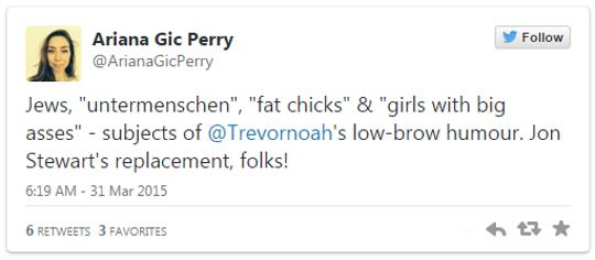 Trevor Noah Offensive tweets