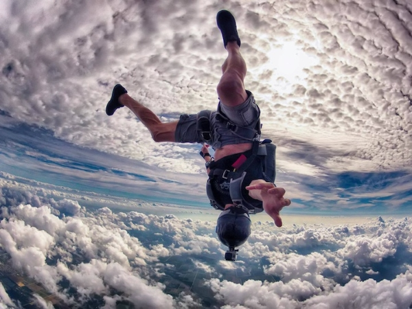 Skydiving GoPro photo