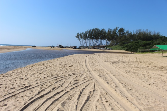 Sodwana bay beach and boat launch