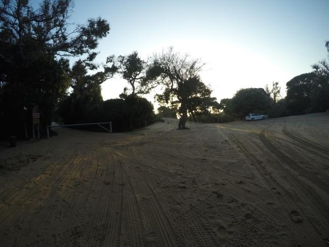 Sodwana beach parking area
