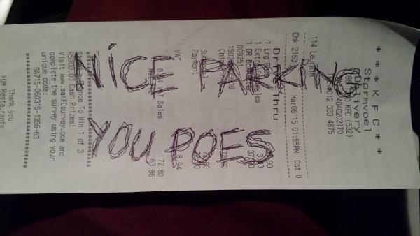 Random Gevaaalikhede 20150813 Nice Parking you Poes