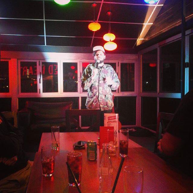 Simi Aaref - Trademarx Comedy Night Pretoria - Photo by Henno Kruger