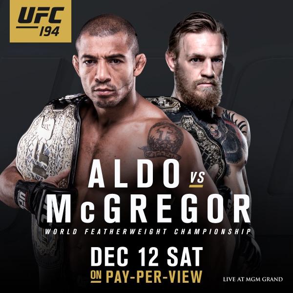 Aldo vs McGregor UFC 194