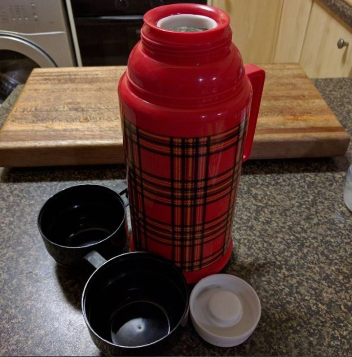 Camping hot water flask