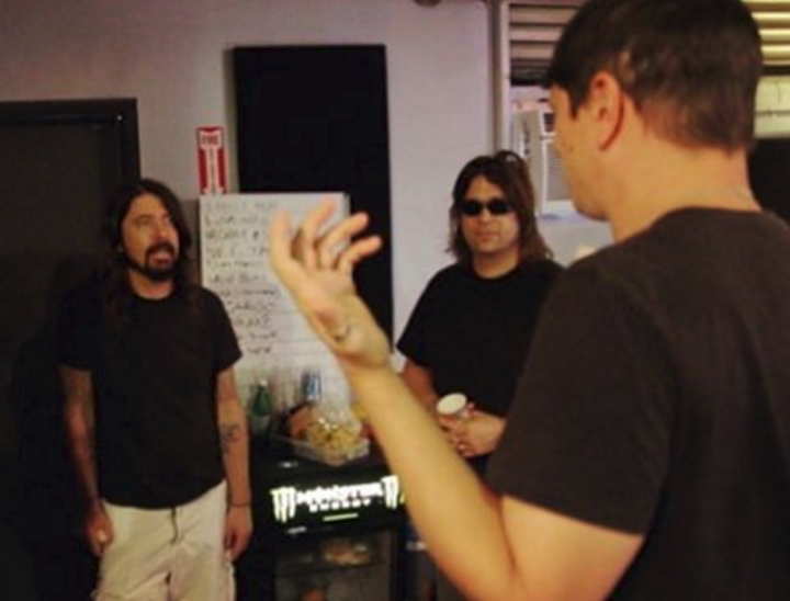 Dave Grohl in studio with Korn