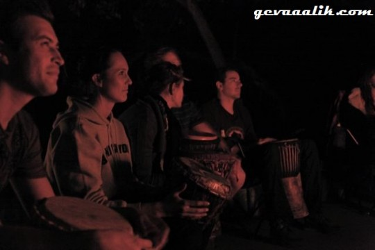 Cullinan Backpackers and Adventure Zone Drum Circle in the bush
