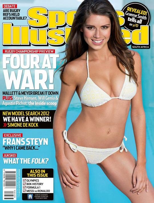 Simone De Kock SA Sports Illustrated cover