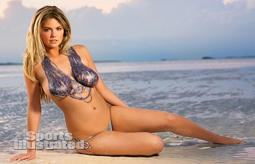 Kate Upton body paint bikini (5)