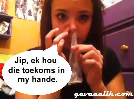 Condom snorting