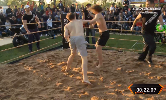 In Russia MMA crowd fights you