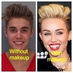 Justin/Miley Mugshot