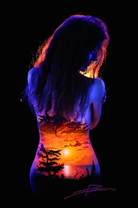 John Poppleton Black Light Bodyscapes (8)