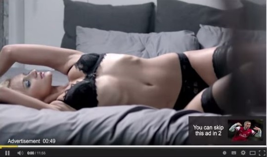 YouTube Sexy Lingerie Skip Ad