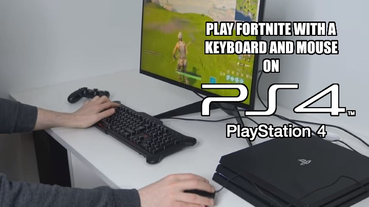 Play Fortnite with keyboard and mouse on PS4 consoles