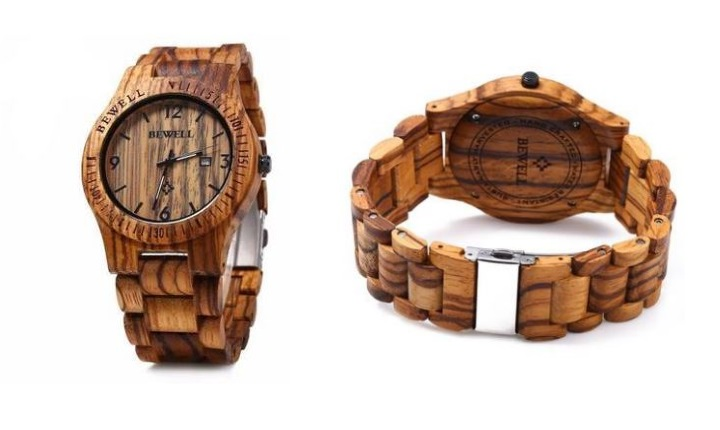 Bamboo wooden watch south africa - Zebra wood